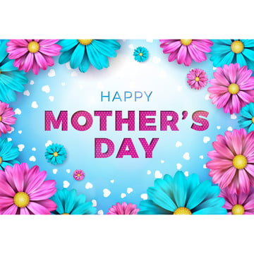 Happy Mothers Day wishes with colorful flowers , Mother, Flower, Happy Background image