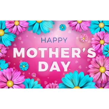 Happy Mother's Day Wishes With Colorful Flowers, Mother, Flower, Happy, Background image