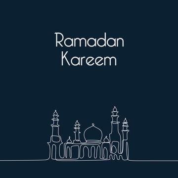 रमजान करीम बैनर डिजाइन minimalist शैली एक सतत डिजाइन लाइन कला के साथ मस्जिद , अरबी, वास्तुकला, कला पृष्ठभूमि छवि