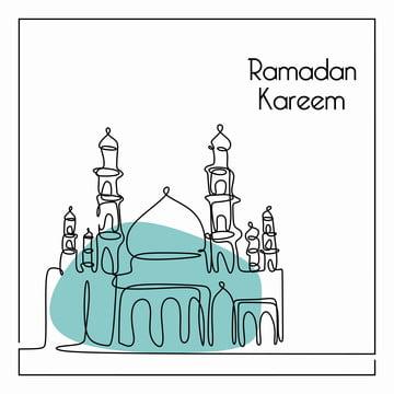 रमजान करीम एक लाइन ड्राइंग के लिए बैनर मुस्लिम समुदाय , अरबी, कला, पृष्ठभूमि पृष्ठभूमि छवि