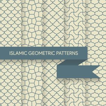 lancar islam corak geometri koleksi , Arab, Seni, Aztec imej latar belakang