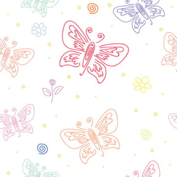 様々な蝶の蝶のシームレスなパターンのシームレスなパターン , アート, 背景, 背景 背景画像