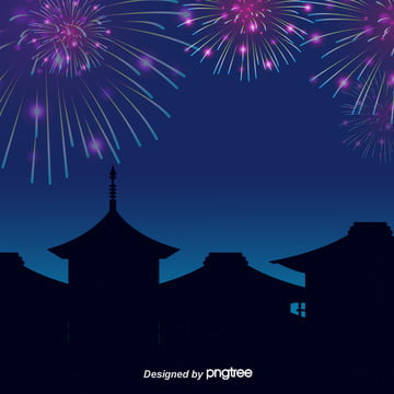 summer night fireworks background , Summer Fireworks, Night, Sky Background image