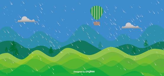 हरी बादलों की बरसात के मौसम में आकाश पृष्ठभूमि, बादल, पहाड़ों, ग्रीन पृष्ठभूमि छवि