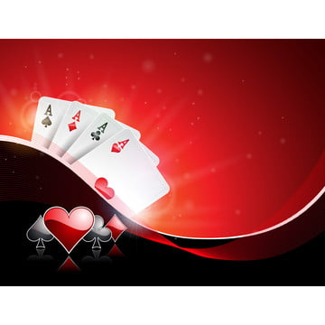 vector illustration on a casino theme with playing suit and poker cards on red background  gambling design for invitation or promo banner , Casino, Background, Gambling Background image