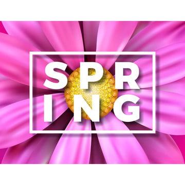ピンクの背景に美しいカラフルな花とベクトル図グリーティングカードやプロモーションのバナーのためのタイポグラフィレターと花のデザインテンプレート , 抄録, アート, 背景 背景画像