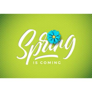 벡터 봄이 아름다운 파란색 꽃이 삽화 신선한 녹색 배경플로럴 디자인 템플릿 카드 또는 조판 편지를 가로폭 , 다이제스트, 예술, 배경 배경 이미지