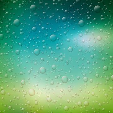 वेक्टर पानी की बूंदों के चित्रण पर धुंधला प्रकृति पृष्ठभूमि , सार, पृष्ठभूमि, नीले पृष्ठभूमि छवि