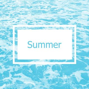 물결이 여름 배경 , 깃발, 블루, 디자인 배경 이미지