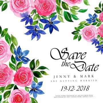 水彩花卉婚禮邀請 , 花卉, 黑色, 條紋 背景圖片