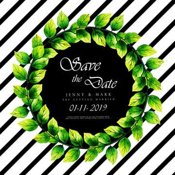 水彩葉子結婚請柬 , 幀, 婚禮, 水彩 背景圖片