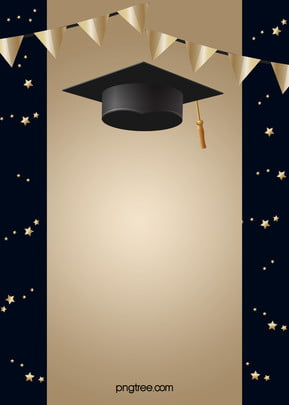 black and golden happy graduation hat background , Coloured Flag, Stars, Graduation Background image