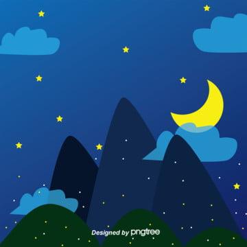 日本のイラストをつづり合わせて手で描くスタイルの星空の背景 , 雲, 夜空, 空 背景画像