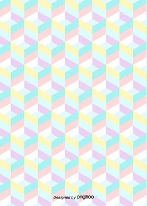 粉彩図柄の壁紙 , 幾何学, かわいい, 清新である 背景画像