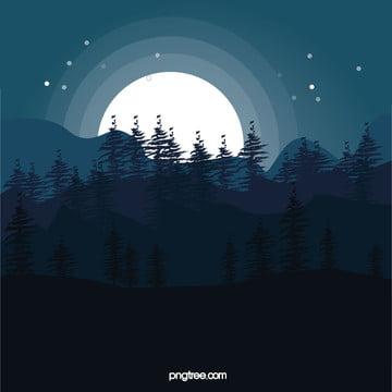 ilustração de fundo vector star sky forest , O Céu, Ilustração, As Estrelas Imagem de fundo