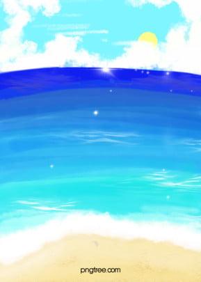 летний морской гофрированный фон , лето, волнистость водяных волн, океан Фоновый рисунок