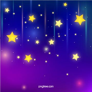 سماء الليل الساطع مع النجوم الصفراء , هالو, سماء, السماء صور الخلفية