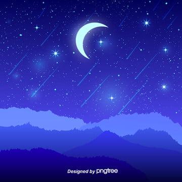 空色の夜の星空 , 光, 影を切る, 夜の夜 背景画像