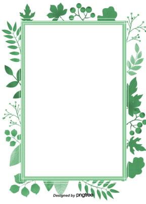 Green Tropical Plant Border Background , Summer, Summertime, Minimalism Background image
