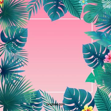 粉色漸變色夏日棕櫚葉 , 棕櫚葉, 漸變, 粉色 背景圖片