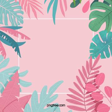 粉色夏日棕櫚葉 , 扁平, 棕櫚葉, 粉色 背景圖片