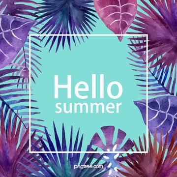 summer palm leaf promotion poster background , Promotion, Summer, Fashion Background image