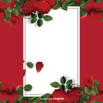 商業紅色玫瑰花情人節婚慶海報背景 , 婚慶, 封面, 情人節 背景圖片