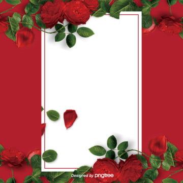komersial mawar merah hari valentine perkahwinan poster latar belakang , Perkahwinan, Cover, Hari Valentine imej latar belakang