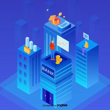 파란색 만화빌딩 장면 , 만화, 정경, 빌딩 배경 이미지