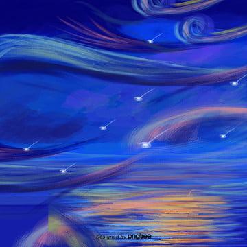 Decoração cor de Fundo Azul Cartoon A Cena Imagem Do Plano De Fundo
