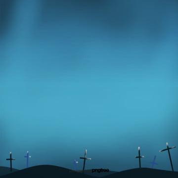 कार्टून नीले हेलोवीन रात के दृश्य , हेलोवीन, पार, कार्टून पृष्ठभूमि छवि