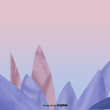 카톤 블루 잎 장식 장면 , 원소, 만화, 잎 배경 이미지