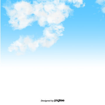 cartoon blue sky and white cloud sky background , Cloud, Element, Cartoon Background image