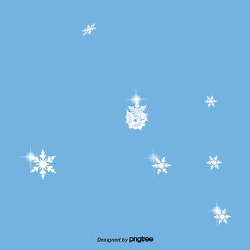 카톤 블루 눈꽃 장면 , 눈이 내리다, 겨울철, 만화 배경 이미지