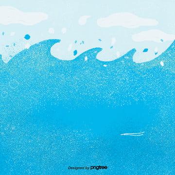 Cartoon Blue Spray, Element, Cartoon, Scenes, Background image