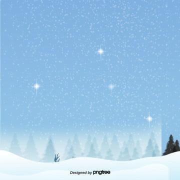 卡通藍色的冬天雪地的背景 , 冬天, 場景, 寒冷 背景圖片