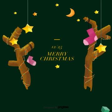 cartoon christmas black decoration background , Cartoon, Christmas, Scenes Background image