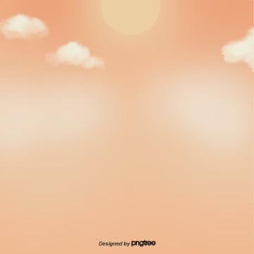卡通色彩光暈天空白雲 , 光暈, 卡通, 天空 背景圖片