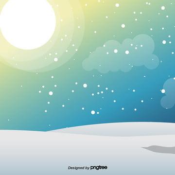 phim hoạt hình đáng yêu của cảnh tuyết mùa đông , Tuyết Rơi, Mùa Đông., Hoạt Hình Ảnh nền