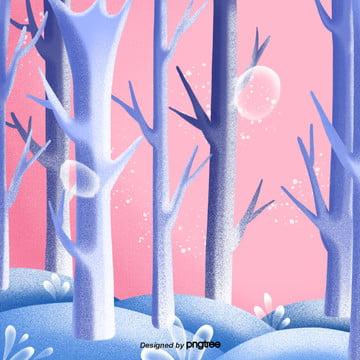 cartoon cute forest scene , Cartoon, A Cena, A árvore Imagem de fundo