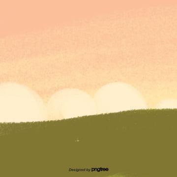कार्टून हरे लॉन  पीला आकाश दृश्य , बादल, कार्टून, दृश्य पृष्ठभूमि छवि