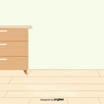 cảnh phim hoạt hình nhà sàn với giấy dán tường tủ đầu giường , Nguyên Tố, Sàn Nhà, Cảnh Ảnh nền
