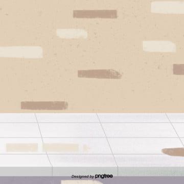 만화 실내 지상 벽체 장면 , 원소, 만화, 바닥 배경 이미지