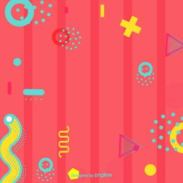 卡通孟菲斯風粉色背景 , 幾何, 卡通, 圖案 背景圖片