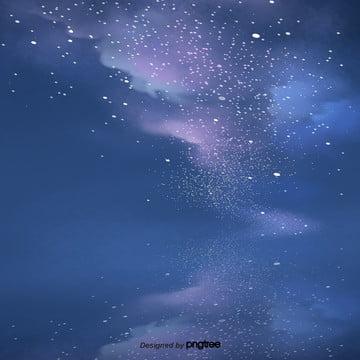 कार्टून रात नीले आसमान , दृश्य, रात, आकाश पृष्ठभूमि छवि