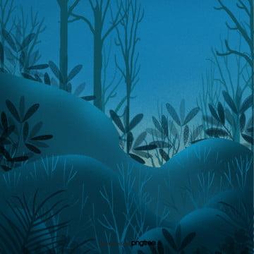夜の草花や森のシーン , アニメ, シーン, 夜の夜 背景画像