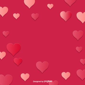 कार्टून गुलाबी दिल के आकार वेलेंटाइन दिवस सजावट , कार्टून, दिल के आकार का, वेलेंटाइन दिवस पृष्ठभूमि छवि