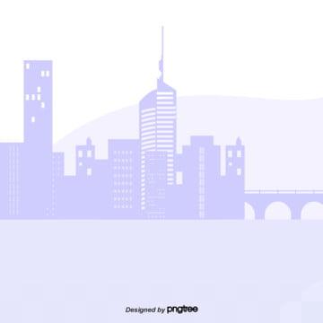 कार्टून बैंगनी रंग के शहर के सिल्हूट , सिल्हूट, कार्टून, दृश्य पृष्ठभूमि छवि