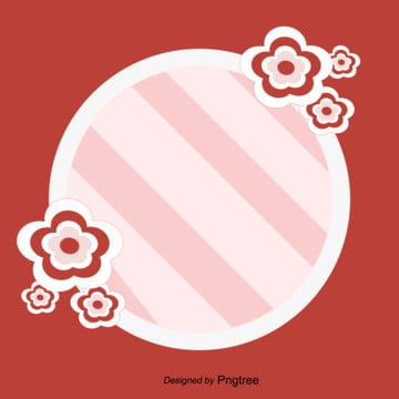 Lãng mạn phim hoạt hình hoa trang trí viền đỏ 婚庆 Ngày Lễ Hình Nền