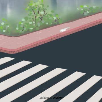 アニメ通りの草花のシーン , シーン, 景色, 背景 背景画像